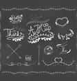 chalkboard doodle frame vector image vector image