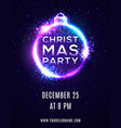 christmas party background poster template vector image