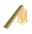 Conveyor for loading of chemical raw materials vector image vector image