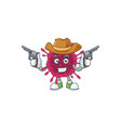 cool cowboy cartoon design covid19 holding guns vector image vector image