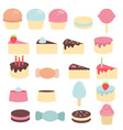 cute sweets and candy cute sweets and candy vector image vector image