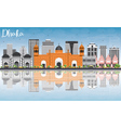Dhaka Skyline with Gray Buildings Blue Sky vector image vector image
