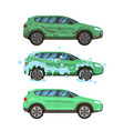 dirty car wash messy city traffic automobile vector image