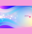 dynamic shapes bokeh with gradient background vector image vector image