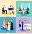 family relationship character icon set vector image vector image