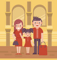 family shoping flat vector image vector image