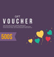 gift voucher simple design collection vector image