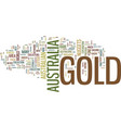 gold in australia text background word cloud vector image vector image