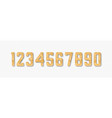 golden glitter numbers with shadow vector image