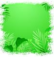 Green leaf tropical frame vector image vector image