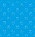 green plant pattern seamless blue vector image