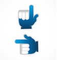 group of 2 pointing hands social media icon vector image