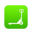 hand truck icon digital green vector image