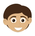 happy boy with tan skin icon vector image vector image