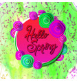 hello spring banner vector image vector image