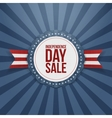 Independence Day Sale realistic Badge vector image vector image