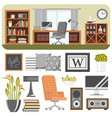 interior details design stylized drawing modern vector image