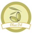 label olive oil vector image vector image