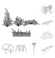 landscape and nature symbol vector image