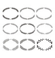 laurels and wreaths design elements vector image vector image