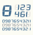 lcd number system vector image vector image