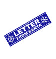 letter from santa scratched rectangle stamp seal vector image vector image