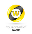 letter w logo symbol in the colorful circle vector image vector image