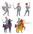 medieval khight holding sword royal knight vector image