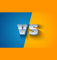 metallic vs letters vector image
