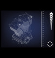 motorcycle engine on blue vector image vector image