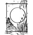 natur black silhouette vector image