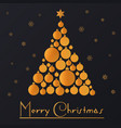 new year background with golden toys christmas vector image
