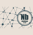 niobium chemical element vector image vector image