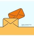 outline flat design email marketing vector image
