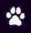 paw glitch4 vector image vector image