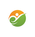 people care success health life logo template vector image