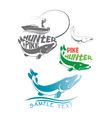 pike fish logo vector image vector image