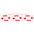 romantic horizontal seamless border with dogs vector image vector image