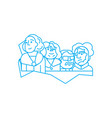 rushmore national memorial linear icon concept vector image vector image