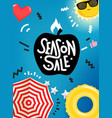 season sale banner design template summer sale vector image vector image