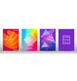 set abstract minimalistic cover and flyer vector image