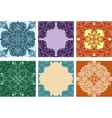 Set of colorful seamless ornaments and frames vector image vector image