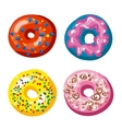 Set of tasty donuts vector image vector image