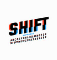 shifted style font vector image