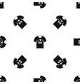 shirt with print pattern seamless black vector image vector image