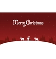 Silhouette of deer on the hill Christmas landscape vector image vector image