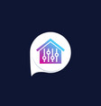 smart house control app icon vector image vector image