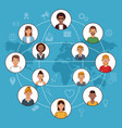 social network and people vector image vector image