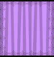 striped lilac square background with cute vertical vector image