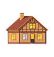 suburban family house countryside brick house vector image